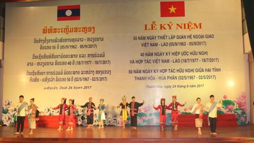 Lễ Mít tinh kỷ niệm 55 năm ngày thiết lập quan hệ ngoại giao, 40 năm ngày ký Hiệp ước Hữu nghị Việt Nam - Lào và 50 năm ngày ký kết hợp tác hữu nghị giữa hai tỉnh Thanh Hóa - Hủa Phăn (02/5/1967 - 02/5/2017).