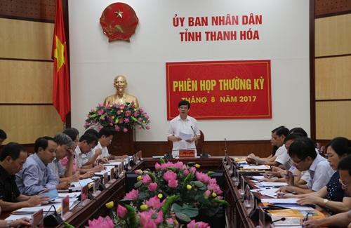 UBND tỉnh họp Phiên thường kỳ tháng 8 năm 2017.
