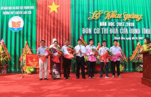 Chủ tịch UBND tỉnh dự Lễ khai giảng năm học mới tại Trường THPT chuyên Lam Sơn.