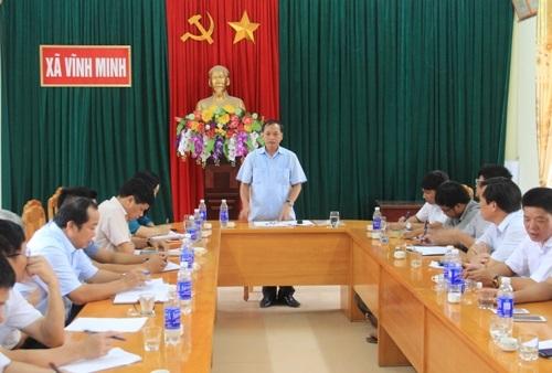 Phó Chủ tịch Thường trực UBND tỉnh Nguyễn Đức Quyền làm việc tại một số cơ sở khai thác, chế biến đá trên địa bàn tỉnh.