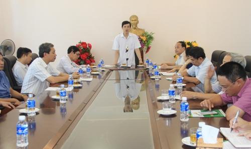 Chủ tịch UBND tỉnh Nguyễn Đình Xứng kiểm tra công tác khắc phục hậu quả cơn bão số 10.