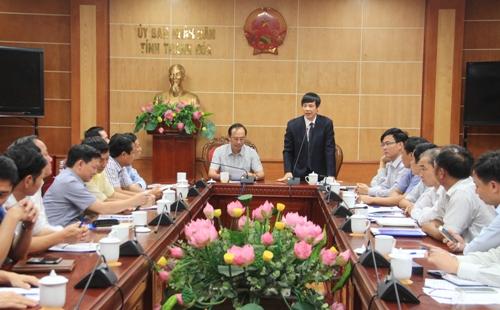 Thứ trưởng Bộ Giao thông vận tải Lê Đình Thọ làm việc tại Thanh Hóa.