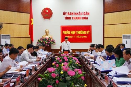 UBND tỉnh họp Phiên thường kỳ tháng 11 năm 2017.