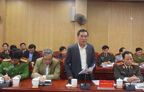 Đoàn công tác của Ban chỉ đạo phòng, chống tội phạm của Chính phủ làm việc với UBND tỉnh.